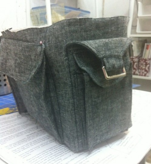 Finished exterior bottome of the bag