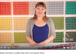 Sewing Cuddle Strip Quilts