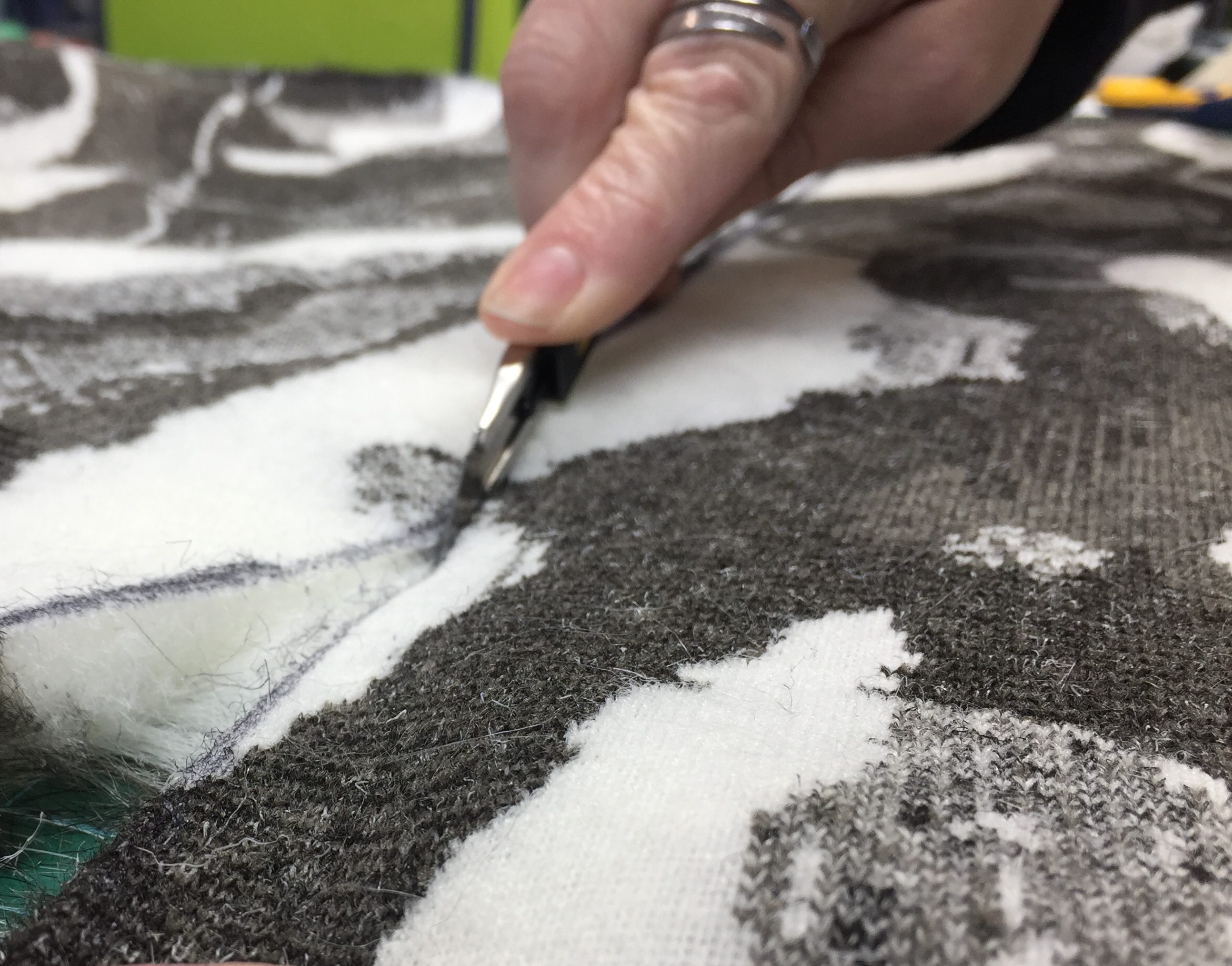 Cutting Faux Fur: more accuracy and less mess